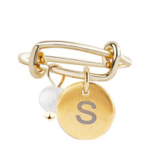 Custom Jewelry A-Z 26 Round Alphabet Letter Rings For Women Lovers Gold Color Name Ring DIY Female Initial Fashion
