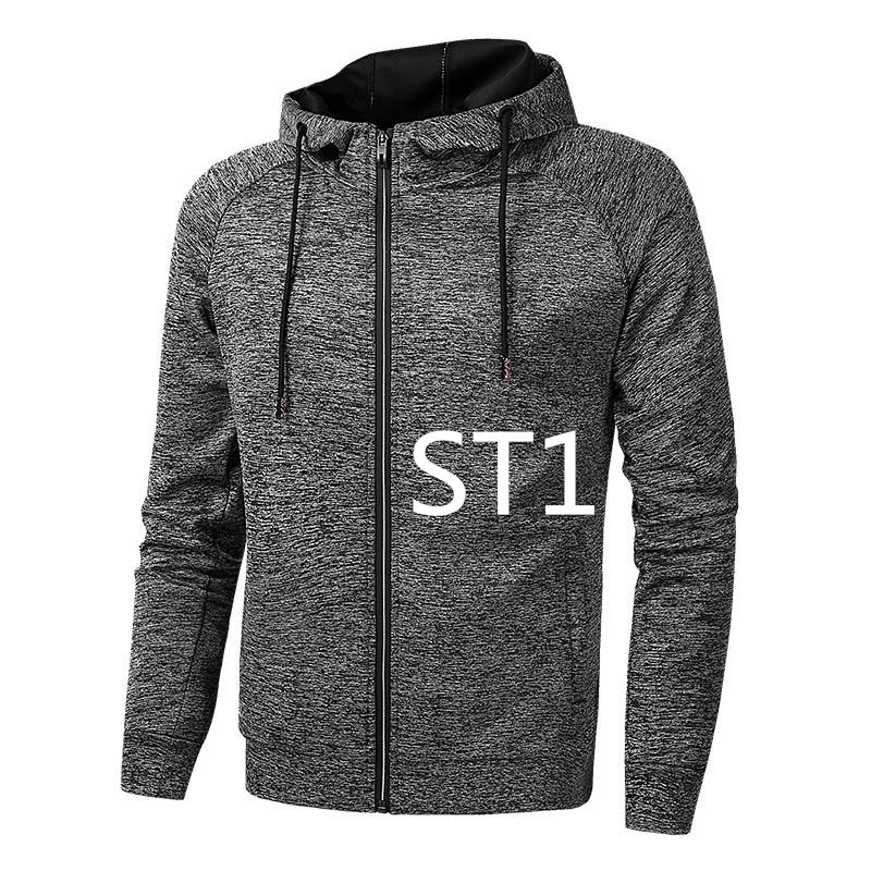 Men's Clothing St1 Mens Fashion Spring Autumn Casual Custom Printed Logo Hoodie Man Sweatshirt Male Solid Hooded Zipper Sweatwear Jacket Hoody