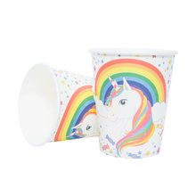 Cute Unicorn Disposable Paper Party Tableware Set