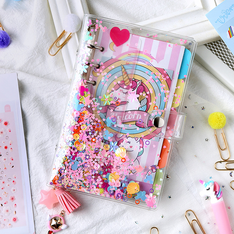Lucky Unicorn Coil Diary A5 A6 90 Sheets Colorful Notebook Gift Stationery Set Free Shipping