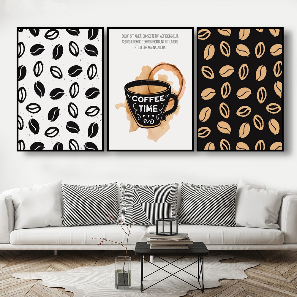 Fashion Coffee Bean Poster Nordic Style Pictures Print Modern Minimalist Quotes Painting Cafe Canvas Wall Art Kitchen Home Decor