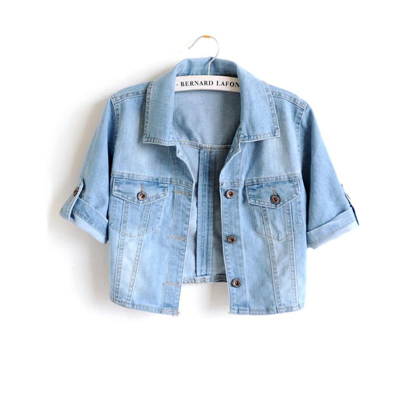 Короткая весенняя куртка с высокой талией, женская одежда с болеро, осенняя тонкая джинсовая женская куртка, джинсы, уличная одежда, пальто, ...