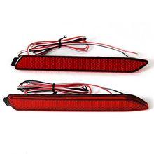 2 adet için LED Arka Tampon Reflektör Gündüz Sürüş Fren Işıkları Toyota Camry Reiz Matrix Venza İstek Sienna Venza