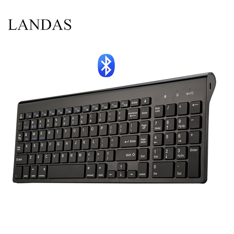 buy landas universal bluetooth wireless keyboard for mac 102 key usb wired. Black Bedroom Furniture Sets. Home Design Ideas