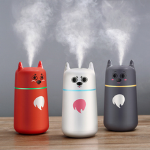 220ml air humidifier 7 Color Changing LED Lights car humidifier cute expression usb humidifier for Office Home