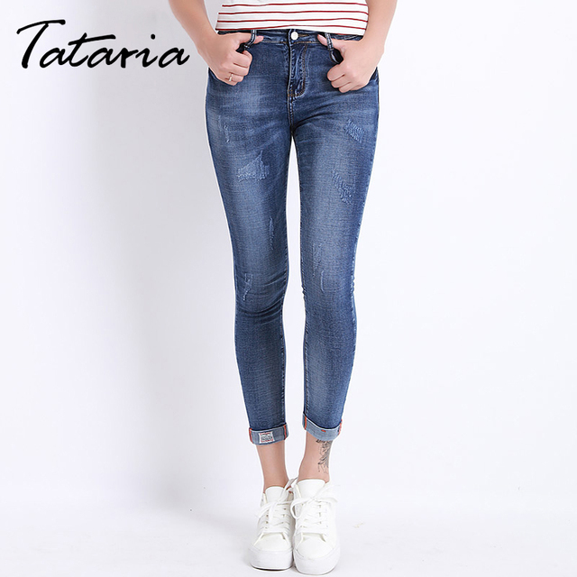jeans femme maigre crayon denim pantalon pour femmes mince d 39 t plus la taille pantalon femme. Black Bedroom Furniture Sets. Home Design Ideas