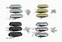KAISH 3x N M B White Cream Black Chrome Alnico 5 Single Coil Pickups High Output