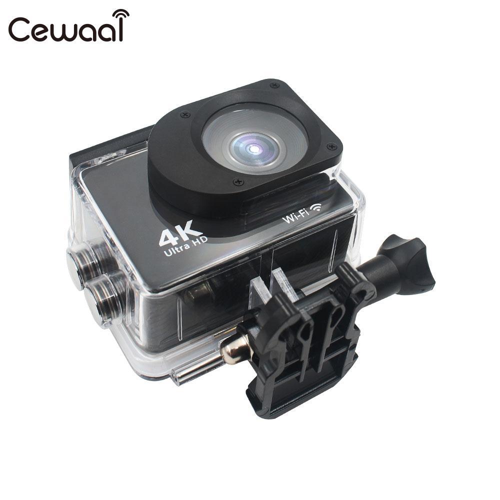 Cewaal Ultra 4K Full HD 1080P Waterproof Camera WIFI 4K 30FPS Helmet Support TF Card Waterproof Portable 2'' LCD