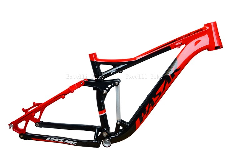 7005 Aluminum Alloy Cycling Frame Soft-tail Frame Full Suspension Downhill Mountain Bike26 27.5 Frame For Disc Oil Brake for 21 speeds09