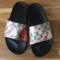 Дизайнер Женщины Тапочки Летние Цветы Женская Обувь Модные Сандалии Бренда Слайды Цветочный Пляж Тапочки Chaussure Femme
