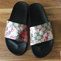 Designer Women Slippers Summer Flower Ladies Shoes Fashion Flat Sandals Brand Slides Floral Beach Slippers Chaussure Femme