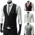 Summer Vests 2016 Men Coats Casual Sleeveless Jacket Waistcoat V Neck Suit Vest Male Weste Jaquetas Fashion Tops Men's Clothing