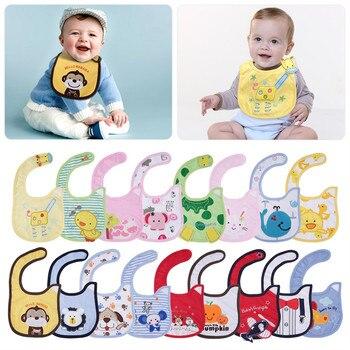 ¡Oferta! Lote de 4 unidades de Baberos de algodón para bebés, toallas para Saliva bordada para bebés, paños Para eructos divertidos para bebés, babero impermeable