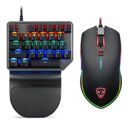 72d247397ad Hot Sale Free Shiping Motospeed Wired Mouse Keyboard Combo RGB Backlight  Single Hand K27 Gaming Mechanical ...