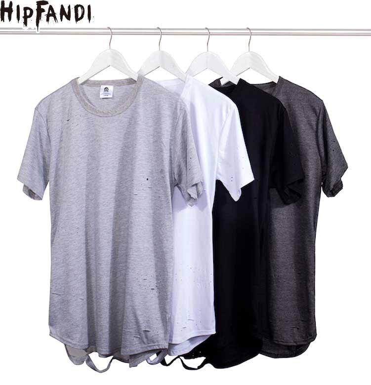HIPFANDI extended t-shirt tee T Shirt Straps Extra Long Tall Tee EXTRA LONG TALL TEE Extra Shirts Mens Extra Kanye T-Shirts