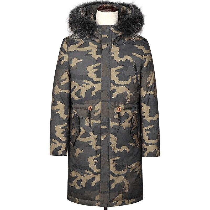 609 новая мужская куртка 2018 зимняя одежда мужская длинная камуфляжная куртка молодежное толстое пальто мужские парки с капюшоном
