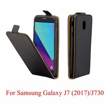 For Samsung Galaxy J7 2017 J730 Cover Luxury PU Leather Flip Case For Samsung Galaxy J7 2017 J730 Vertical Open Down Up Cover стоимость