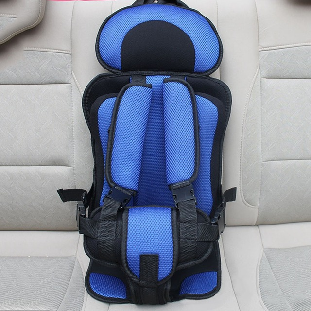 Hot 4-12 Yrs Kids Car Safety Seat Infant Mesh Seat Cushion Adjustable Belt Chair Carrier Comfy Portable Children Car Seat Size L