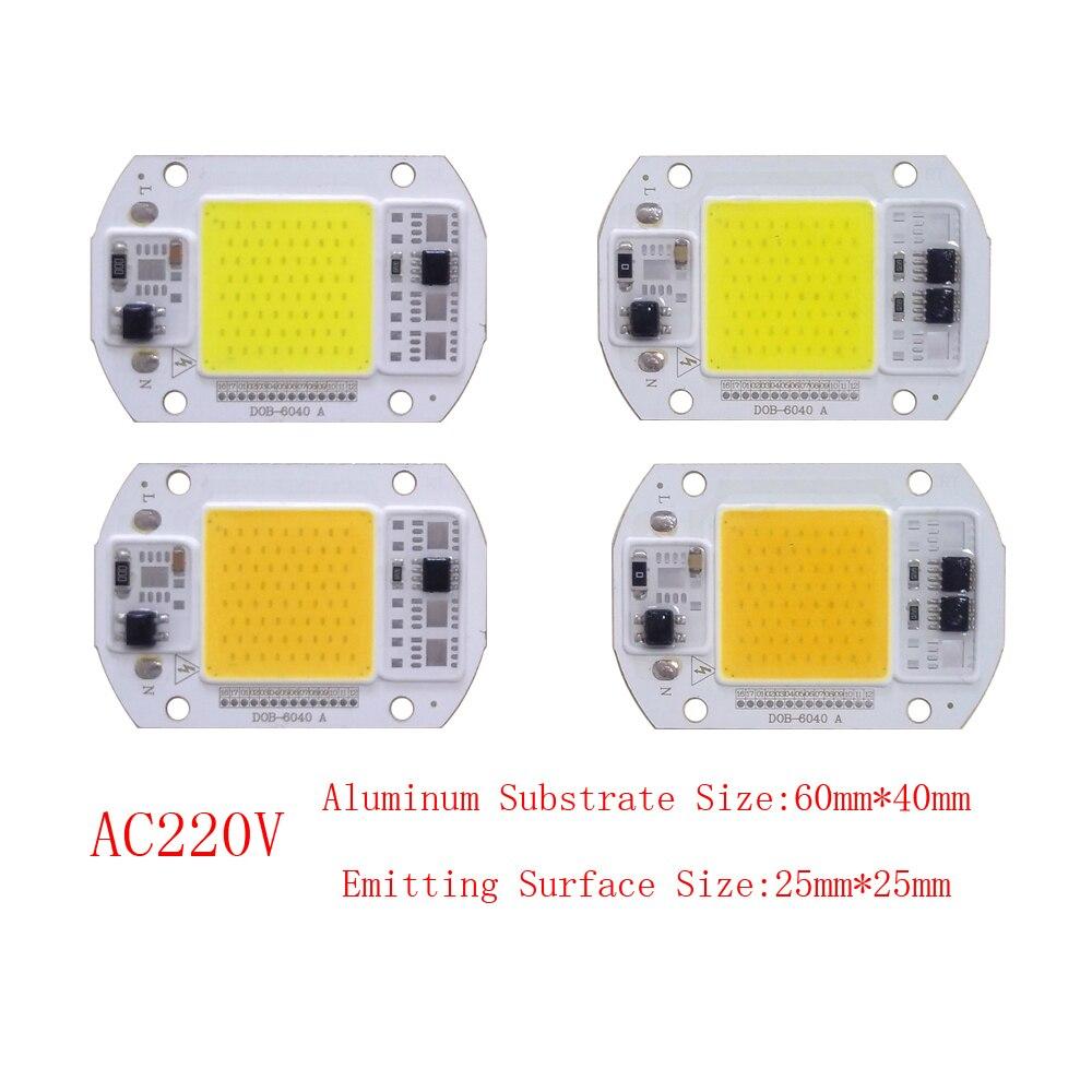 10PCS/LOT DOB LED Lamp Chip 15W 25W LED DOB Bulb Lamp 220V Smart IC Driver Cold Warm White LED Spotlight Floodlight Chip