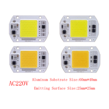 10PCS/LOT DOB LED Lamp Chip 15W 25W Bulb 220V Smart IC Driver Cold Warm White Spotlight Floodlight