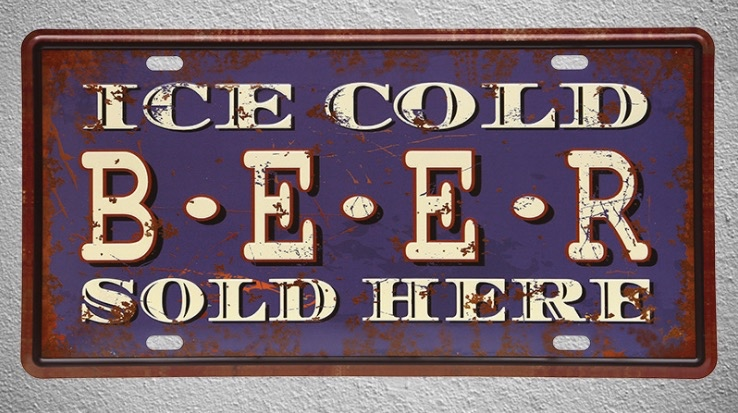 1 pc Ice cold beer sold here Bar store shop Tin Plates Signs Brussel wall man cave Decoration Metal Art Vintage Poster