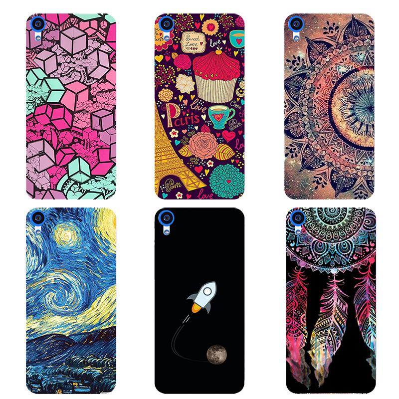 Mobile Phone Cover Case For HTC Desire 728G 728 G Dual Sim D728T D728W 5.5inch Case soft silicone printed Cover Coque Capa