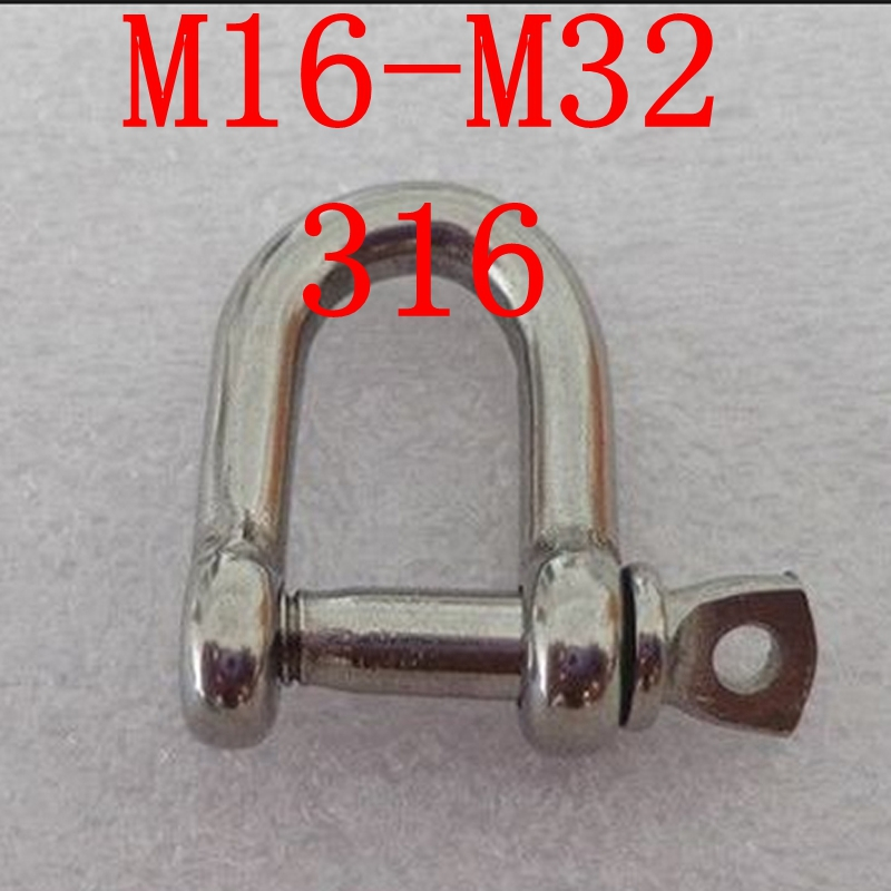 M16-M32 316 D Shackle Stainless Steel Screw Pin D Shackle 10 pcs d sub 15 pin male solder type plug adapter vga connector serial ports db15m