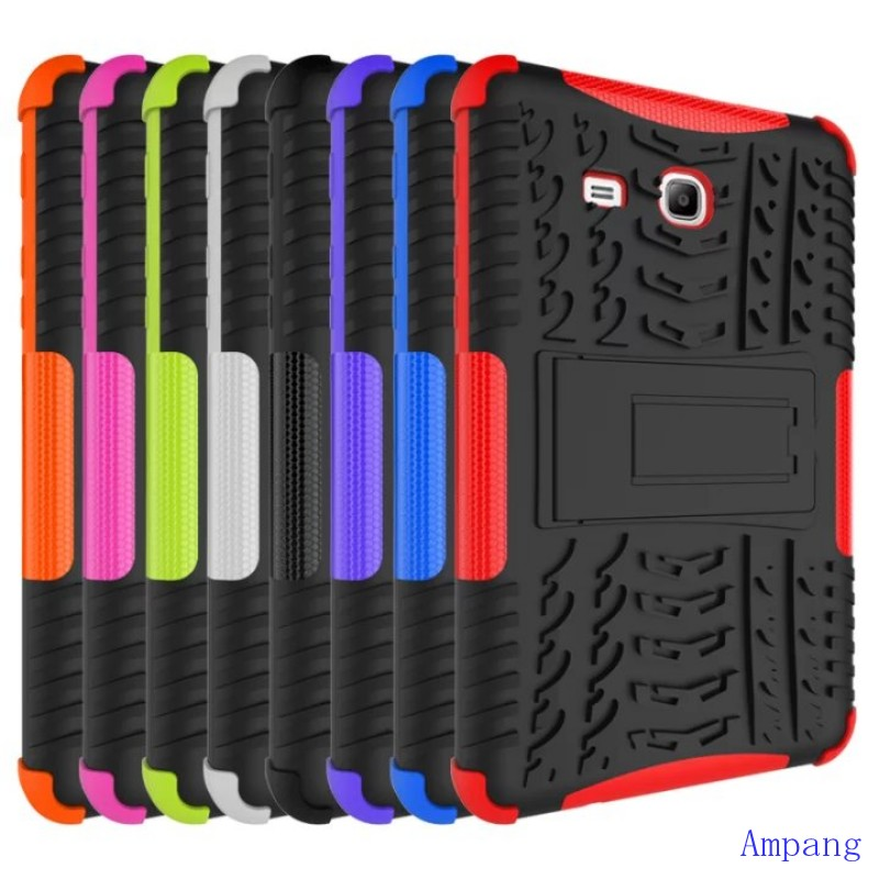 Hybrid Armor Kickstand Silicone Cover for Samsung Galaxy Tab 3 Lite 7.0 T110 Case Cover For Samsung Galaxy Tab 3 Lite 7.0 T110 tire style tough rugged dual layer hybrid hard kickstand duty armor case for samsung galaxy tab a 10 1 2016 t580 tablet cover