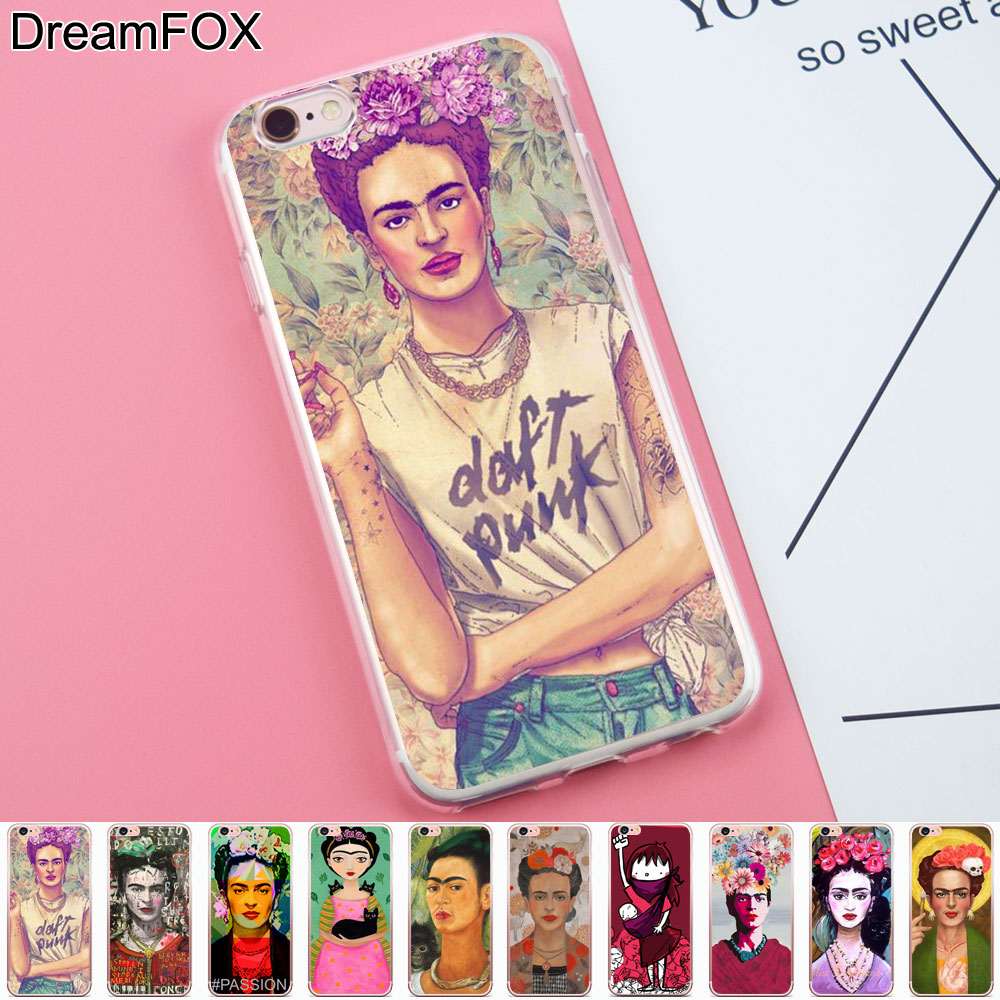 DREAMFOX K101 Frida Kahlo Signed Soft TPU Silicone Case Cover For Apple iPhone 8 X 7 6 6S Plus 5 5S SE 5C 4 4S