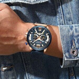 Image 3 - CURREN แบรนด์หรูผู้ชายกีฬาทหารนาฬิกาผู้ชายนาฬิกาควอตซ์นาฬิกาหนังกันน้ำวันที่นาฬิกาข้อมือ relogio masculino 8329