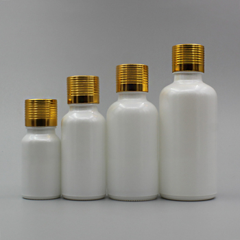 Wholesale 20ml pearl white mini sample essential oil perfume bottle glass dropper