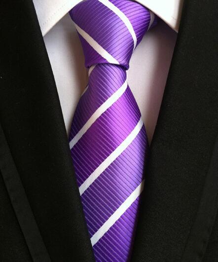 8 cm Hommes Classique cravates 100/% soie Multi-couleur rayures Plaids Col Cravate Mariage Fête