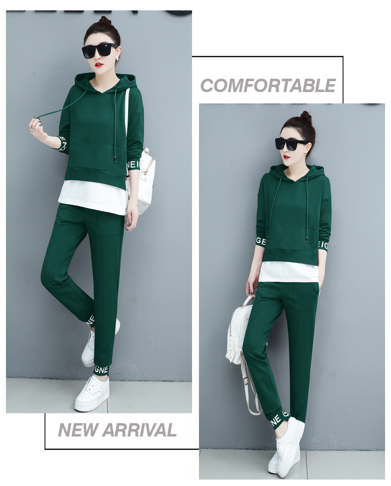 Autumn Sport Two Piece Sets Tracksuits Outfits Women Plus Size Hooded Sweatshirts And Pants Korean Casual Fashion Matching Sets 63