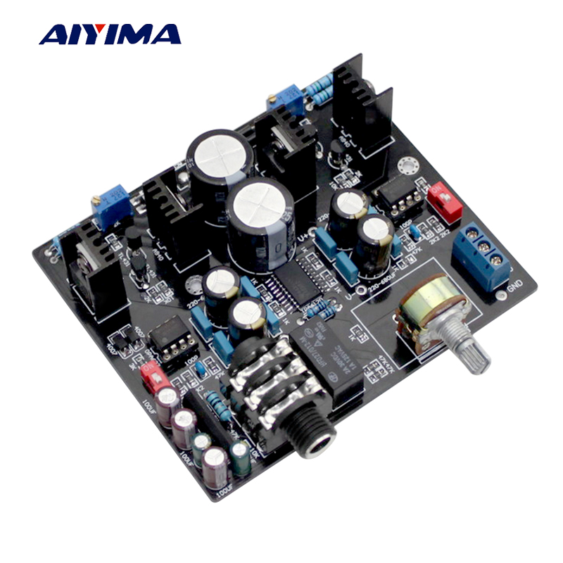 Aiyima TPA6120A Headphone Amplifier board NE5534 for 32-600 ohm speaker with Headphone protection bravo v3 eh6922 headphone speaker amplifier module green