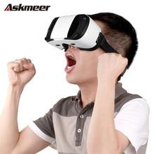 2016 Askmeer 3Dแว่นตาหมวกกันน็อคแว่นตาเสมือนจริงVRชุดหูฟังแว่นตา3dมือถือภาพยนตร์สำหรับiphone 6/6 s plus 4.7-5.5 iosโทรศัพท์