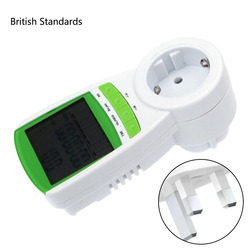 1pc ue/US/UK wtyczka LCD cyfrowy watomierz woltomierz miernik Tester 230V 50Hz moc napięcie prądu Monitor częstotliwości w Liczniki energii od Narzędzia na