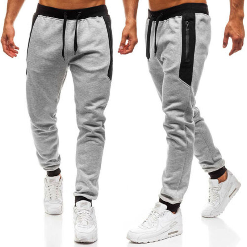 2019 New Brand Fashion Mens Slim Fit Tracksuit Sport Gym Skinny Jogging Joggers Sweat Pants Trousers US