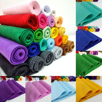 20/90*90cm Soft Felt Fabric Non-woven Felt Fabric Sheet  DIY Sewing Dolls Crafts Material 1.4mm Thick