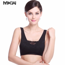MoKaWa Women Yoga Shirts Lace Crop Tops Bra Wireless Women Sports Underwear With Padding Clothing for Yoga Body Building