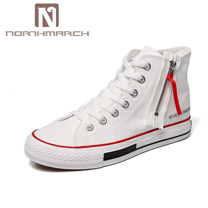 NORTHMARCH Mens Casual Shoes Hot Sale Men Canvas Shoes New Fashion High Top Sneakers Breathable Couple Shoes Zapatos Hombre high top sneakers men shoes casual zapatos hombre orange winter shoes for men casual sneakers breathable new design brand shoes