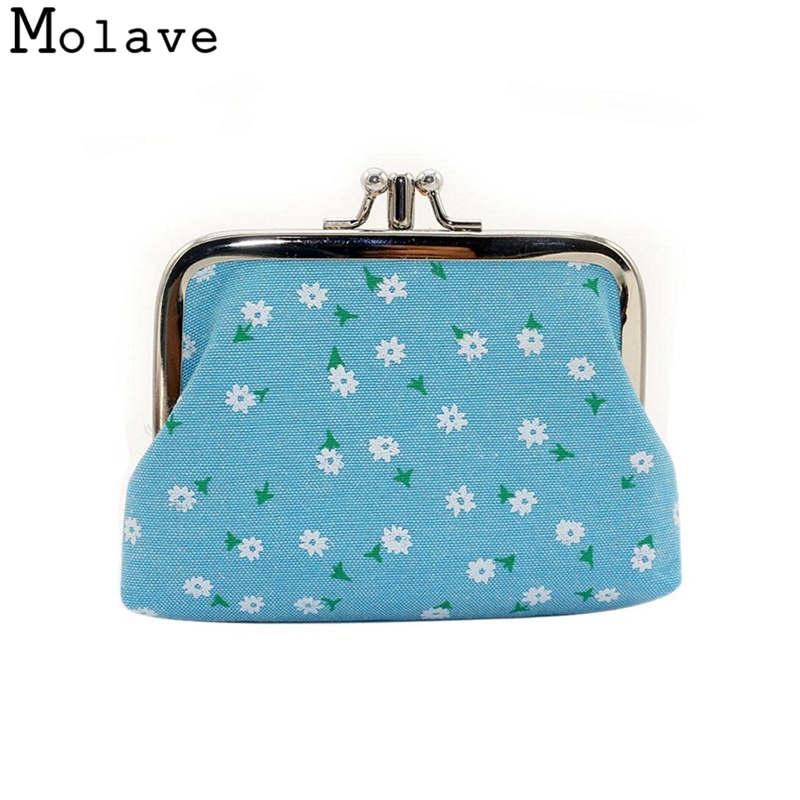 Naivety Mini Coins Purses Cotton Fabric Coin Purse Small Hasp Flower Printing Wallet Organizer Bag 30S71214 drop shipping