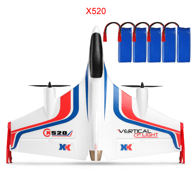 wL X520 Fighter 6CH Brussless Vertical Takeoff and Landing Stunt RC Drone Wifi Control 720P/1080P Drone With Camera Quadrocopter