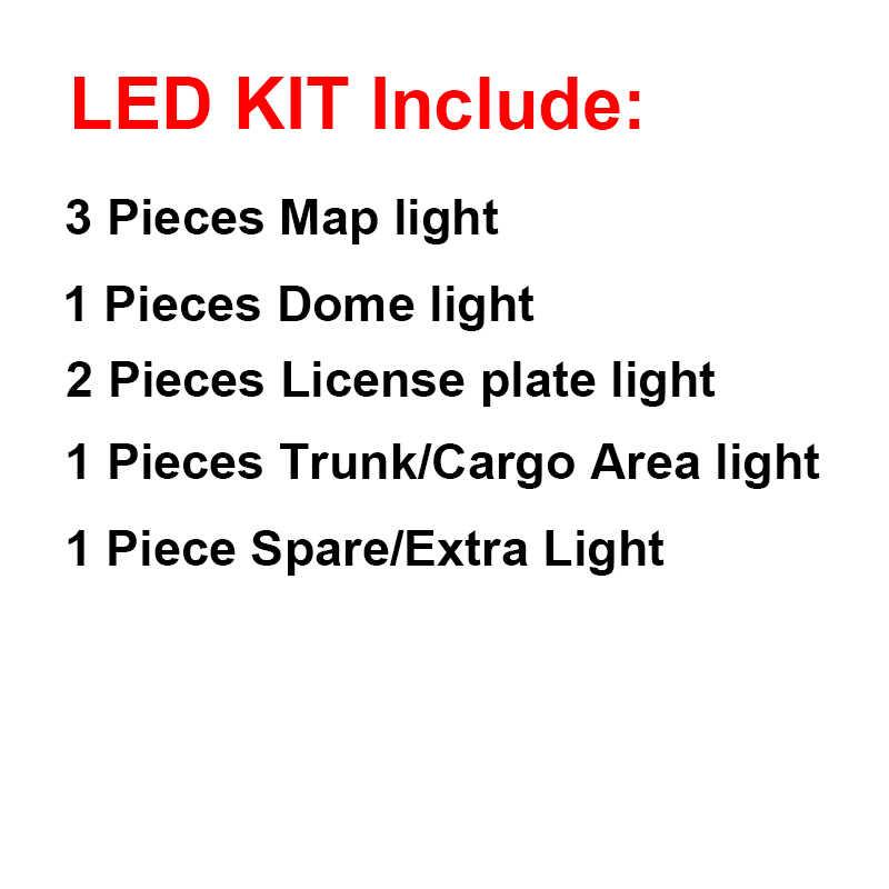 Cawanerlカーインテリアドームの地図トランクナンバープレートランプ 5630 led電球ledキット白三菱ランサーエボリューション 2003-2006