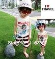 O envio gratuito de terno de verão de alta qualidade crianças meninos T shirt do terno + panelas 2 pcs roupas terno