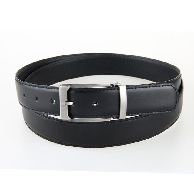 Negro Cinturón de piel de Vaca Cuero Genuino de Los Hombres Correa de Cintura Estilo de La Manera Correas De Cuero Pin Hebilla de Cinturón de 130 cm 120 cm Entrega rápida