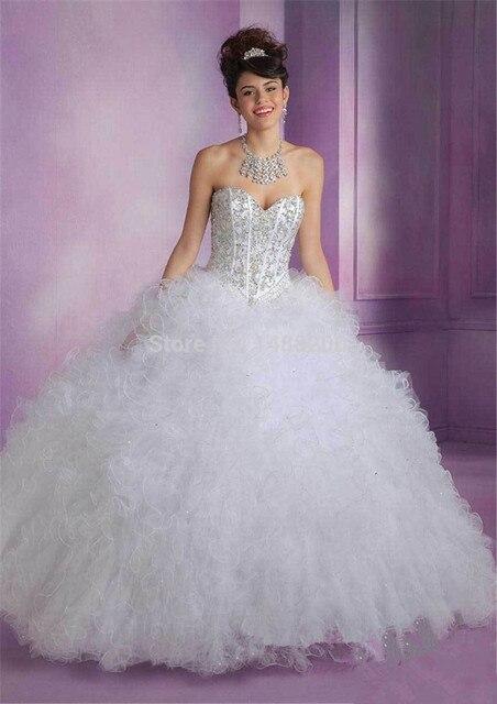 2d926bc7c4 Por Encargo de Bola Del Amor del Rosa Azul Blanco Princesa Barato vestido  de noiva Vestidos