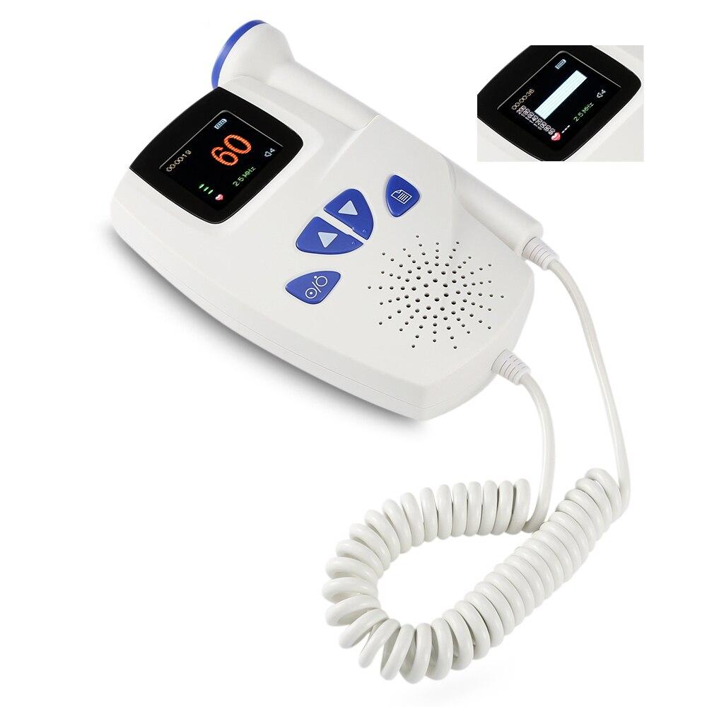 Baby Monitor Fetal Doppler Detector LCD Portable Ultrasound Baby Doppler Heart Rate Monitor Pregnant Doppler Speed Sensor