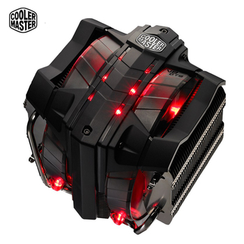 Cooler Master V8GTS CPU Cooler 8 heatpipes Double 140mm LED fan CPU radiator for 2066 1156 AMD 3 Tower Quiet CPU cooling PC fan