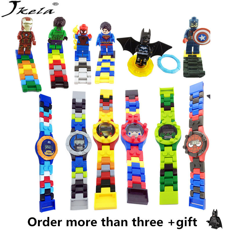 [Jkela] Super hero batman Marveles Legoings Building blocks Bricks Original box Watch Bricks Compatible legoingly Avengers Toys