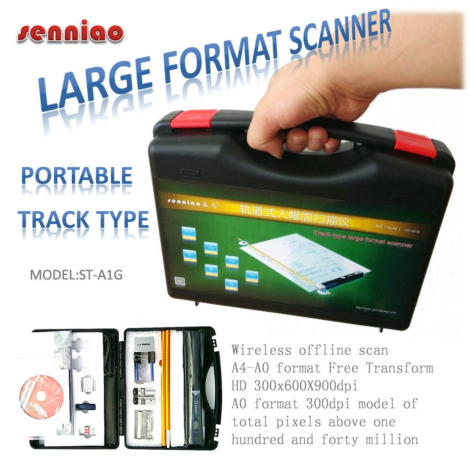 Senniao track scanner ST-A1G portable large format transform HD offline scan computer image seamless synthetic A4-A0+ format for honey well 5180 5180sr decoded miniature image scan engines